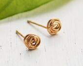 Gold stud earrings, Gold earrings, infinity earrings, gold post earrings, simple stud earrings, circle stud earrings, silver stud earrings