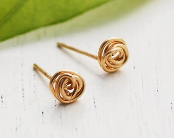 Gold stud earrings, Gold earrings, infinity earrings, gold post earrings, simple stud earrings, circle stud earrings, silver stud earrings