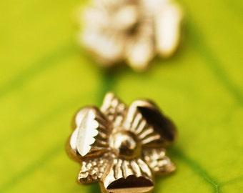Stud earrings, gold stud eaarrings,14k gold plated, post earrings, flower earrings, small stud earrings, posts