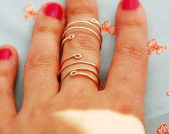 Spiral gold ring, silver or gold ring, wedding, 14k gold filled and sterling silver simple ring, 14k gold ring, silver ring, ANY SIZE RING