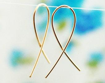 Gold earrings, simple earrings, bridesmaid earrings, everyday earrings, simple everyday jewelry, modern simple jewelry, weddings