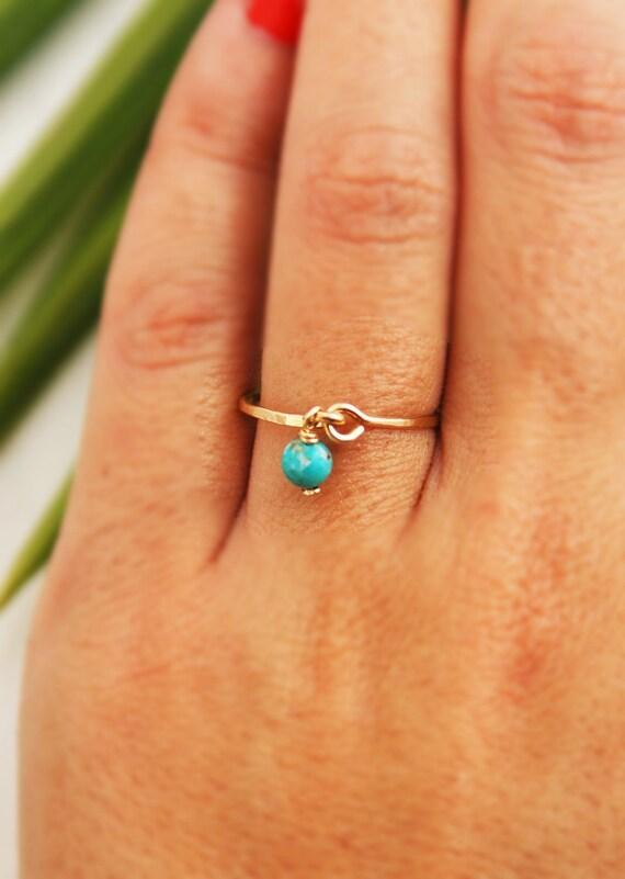 Turquoise ring, gold ring, silver ring, gemstone ring, thin ring, 14k gold filled ring, stacking ring, wedding, thin ring, everyday ring