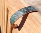 Antique Copper Bracelet - Naturally aged