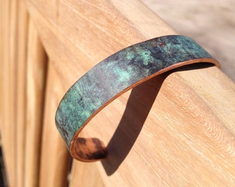 Antique Copper Bracelet - Naturally aged