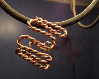 Twisted Copper and Aluminum Cuff