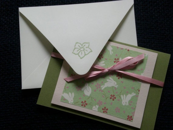 Asian inspired blank card
