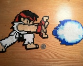 Ryu Street Fighter Bead Sprite- Hadoken Style (MADE TO ORDER)