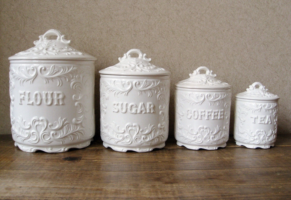 vintage canister set antique white with ornate details vintage kitchen canister sets 187 home design 2017