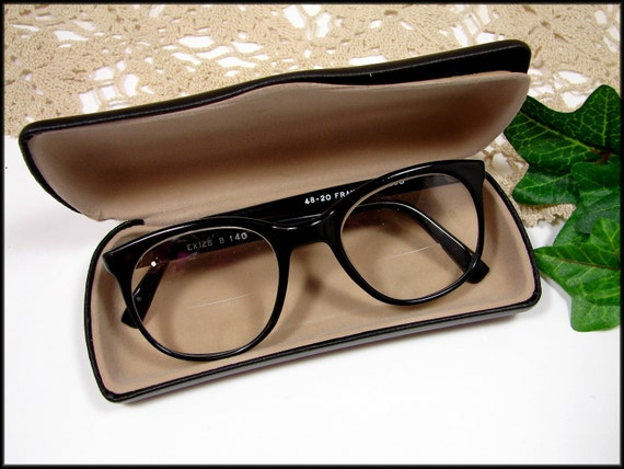 Vintage Retro 1960s Black Rimmed Glasses