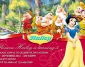 Disney Princess Invitation  - Printable Snow white Birthday Invitation
