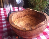 Olive wood bowl / natural look