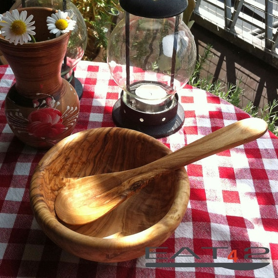 olive wood bowl inclusive spoon