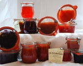 homemade chutneys and marmalades in original Weck Jars