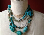 Turquoise Howlite Jade Necklace