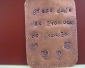 Plaque Hand Stamped Personalized with Message of Your Choice Custom Made