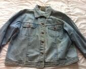 Jean Jacket size large Unisex
