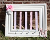 Custom Bow Holder - Pink Damask