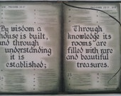 Proverbs 24:3-4 LARGE PRINT