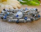DANCIN in the MOONLIGHT crochet wrap bohemian, hippie chic, bracelet