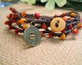 INNER PEACE crochet wrap, anklet, necklace, bohemian, hippie chic, wrapped, bracelet