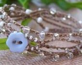 DREAM WEAVER crochet wrap, anklet, necklace, bohemian, hippie chic, wrapped, bracelet