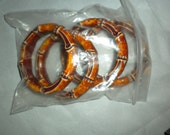 4 Bamboo Looking Rings - 90 mm outside, 65 mm inside - Acrylic