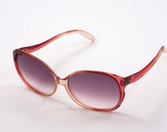 50% OFF Original Pierre Leman Vintage Sunglasses Made in France Slightly Oversized with a Ruby Frame