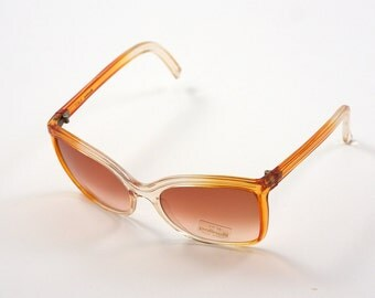 35% Off  Polinelli Original Vintage Sunglasses with Yellow Orange Frame MADE IN ITALY