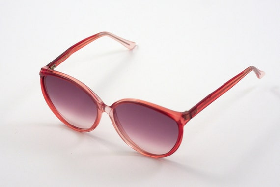 Original Pierre Leman Vintage Sunglasses with Pink Ruby Frame Made in France