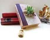 Eco Succulent Book Planter Pink Wine Succulent Centerpiece Book Lover Succulent Lover // Hooray Me