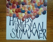 happy indian summer card