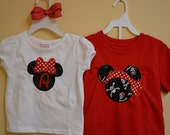 Customized- Sibling Disney Pirate Mickey / Minnie Mouse T-shirts