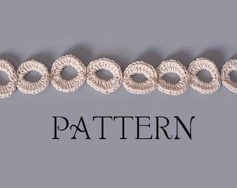 PDF PATTERN FILE - Easy Joined Links Crochet Bracelet Pattern