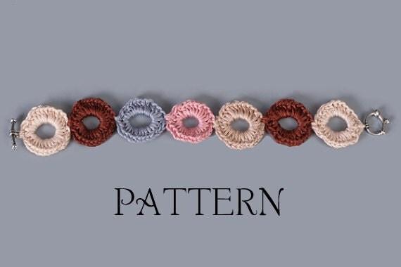 PDF PATTERN FILE - Super Easy Links Bracelet Crochet Pattern