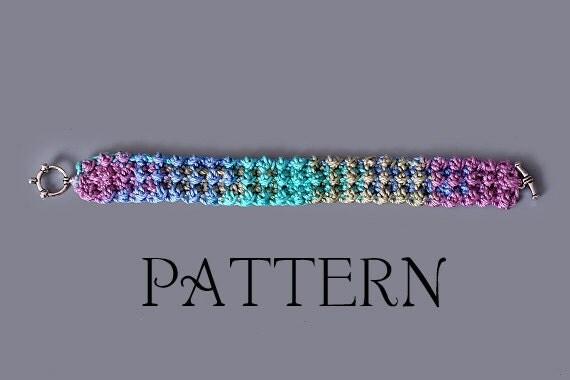 PDF PATTERN FILE - Moss Stitch Crochet Bracelet Pattern