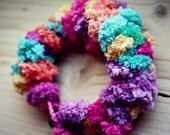 Pom Pom Bracelet with Different Vibrant Colors