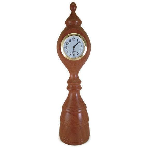 Small Desk Clock, Table Clock, Dorm Clock, Office Clock (Cherry)