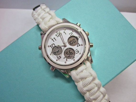 Women's White Paracord Watch