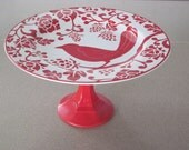 Red Bird Dessert/Home Decor Stand/ Wedding gift/ Bridal Shower