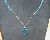 Swarovski Crystal Aquamarine Necklace