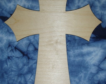 Unfinished Wood Cross Wooden Craft Crosses Part C15-038  8.75 x 15 Inch Tall