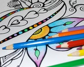 Color me PDF's... Artist Drawn Organic Coloring Pages in PDF form