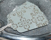 Glitter Paper Gift Tag - French design