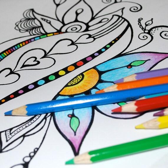 COLOR ME... Artist Drawn Coloring Pages in Vinyl Envelope