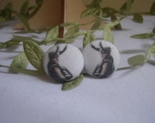 Avengers Loki Fabric Button Earrings