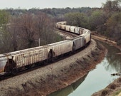 Train at Hollywood Cemetery  -  Mounted 11x17 Print
