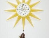Retro 1960's Spartus Electric Wall Clock