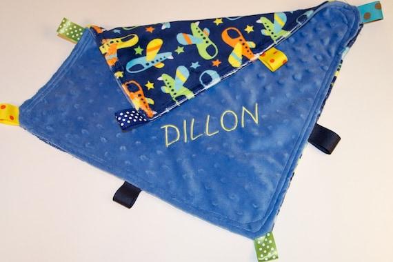 Personalized Sensory Minky Baby Blanket for Sybil