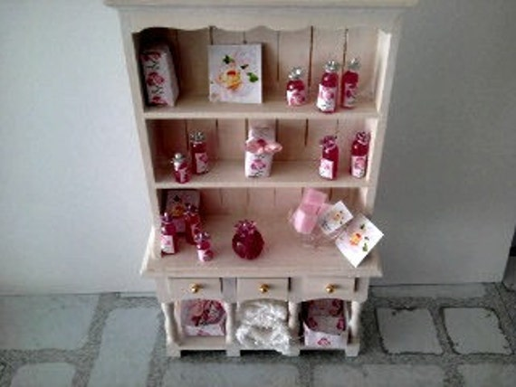 dolls house dresser toiletry shop display