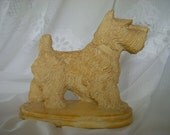 Vintage Scottie Dog Figurine Made In Mold Highly Detailed